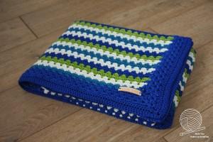 Deken Granny Groen/Blauw